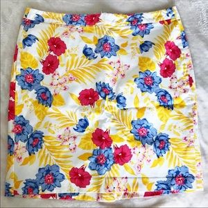 OLD NAVY Floral Pencil Skirt Yellow Pink